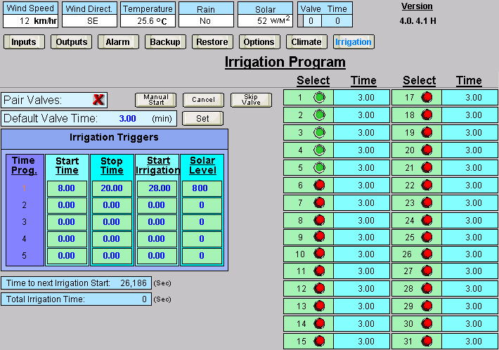 Greenhouse Irrigation Software