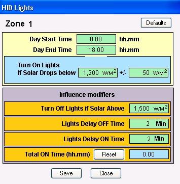 Hid Lights Program Template