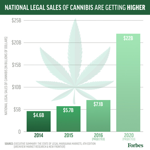 Projected Sales for Cannabis Growers