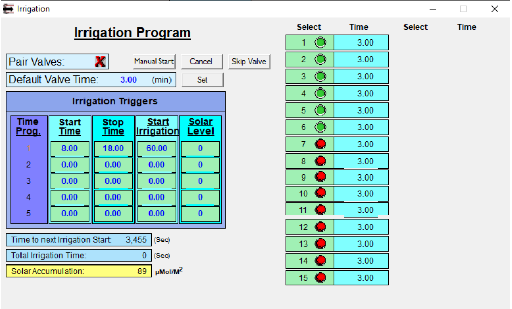 Climate Manager Irrigation software
